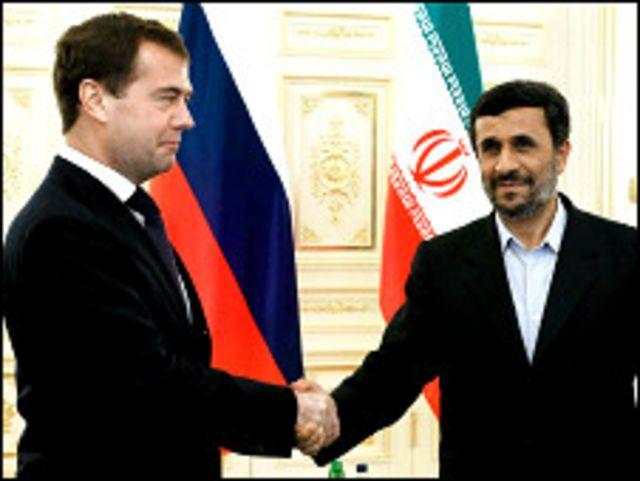 احمدی نژاد و مدودف