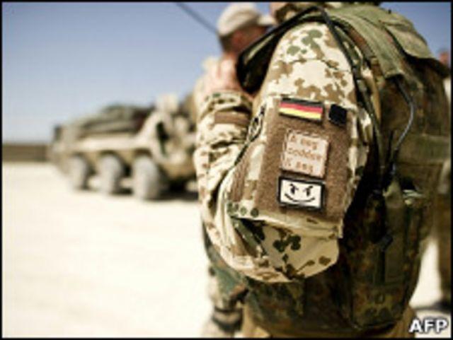 Немецкий военный в Афганистане