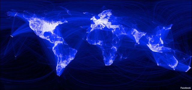 Карта мира Facebook