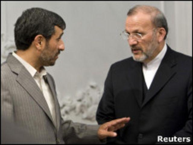 منوچهر متکی، محمود احمدی نژاد