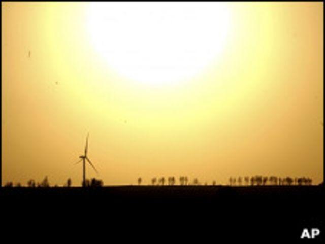 Закат солнца в Китае