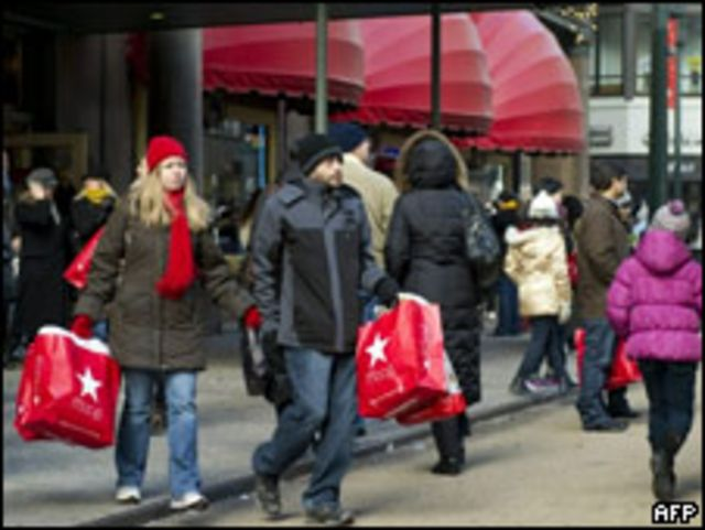Compradores en Nueva York