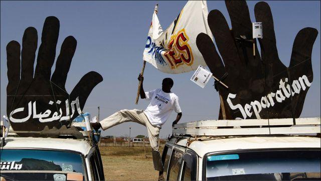 مسيرة في جوبا مؤيدة للانفصال