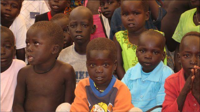 اطفال في جنوب السودان-تصوير صفاء الصالح