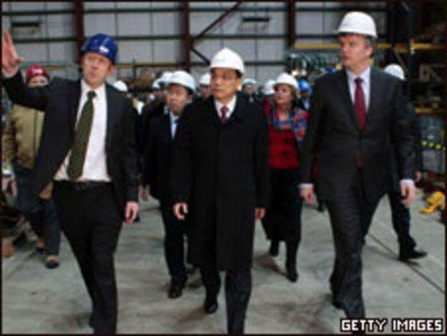 李克強參觀蘇格蘭工廠。