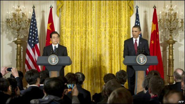 胡錦濤與奧巴馬記者招待會
