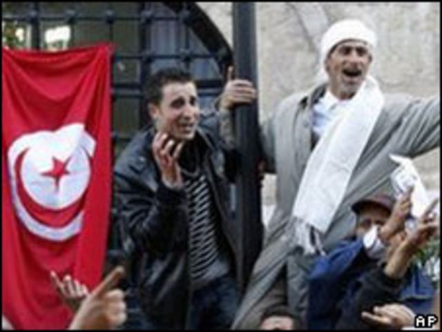 突尼斯示威者(21/1/2011)