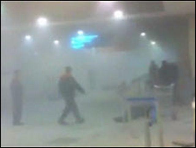 莫斯科多莫傑多沃機場爆炸現場