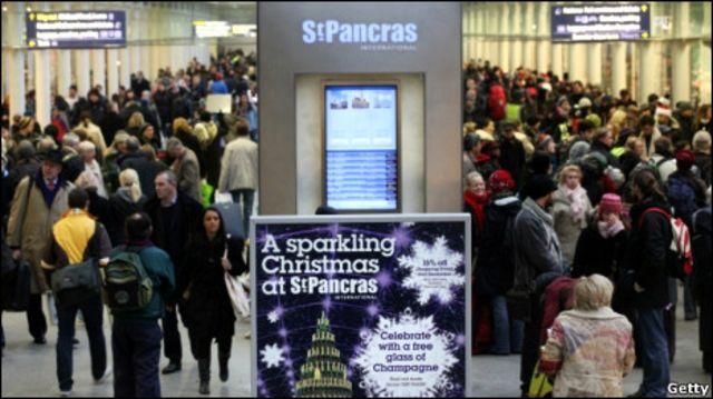 聖誕節前的聖潘克勒斯站(St Pancras)