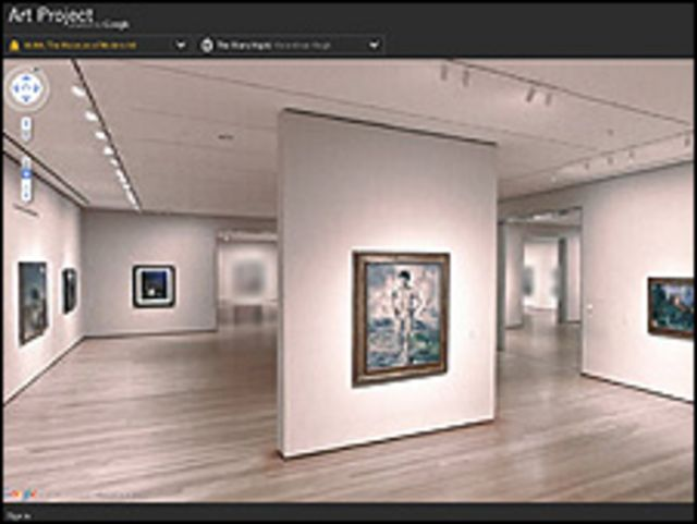 Vista del Moma de Nueva York en Art Project de Google