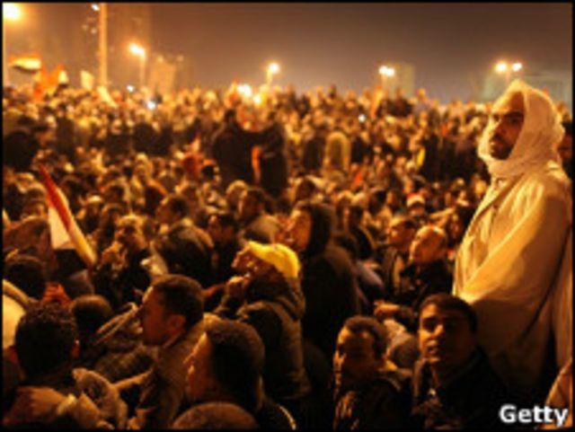 開羅民眾抗議示威