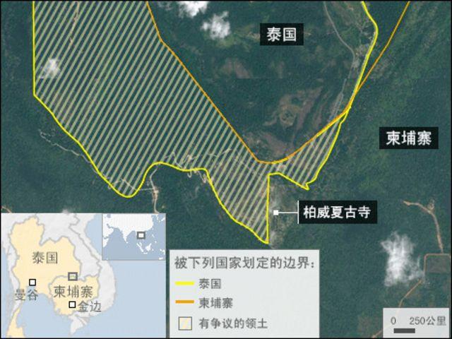 泰國柬埔寨邊境地圖