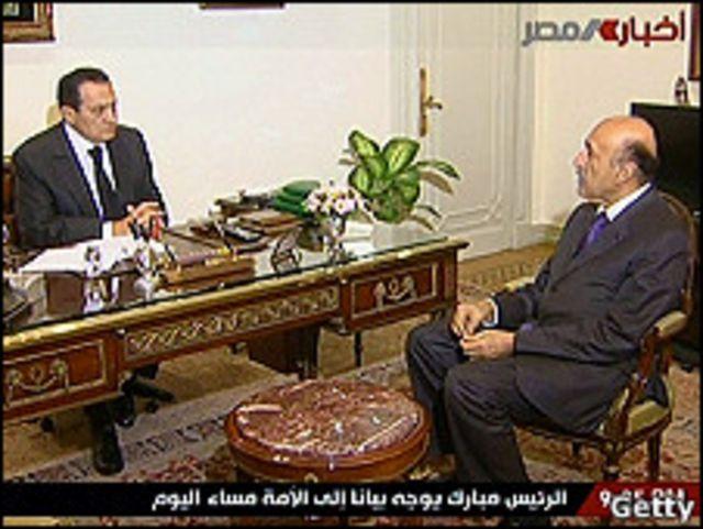 穆巴拉克同副總統蘇萊曼
