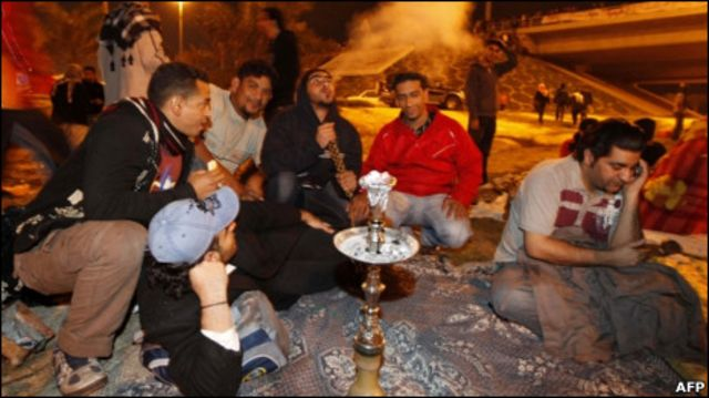 Участники протеста в Бахрейне
