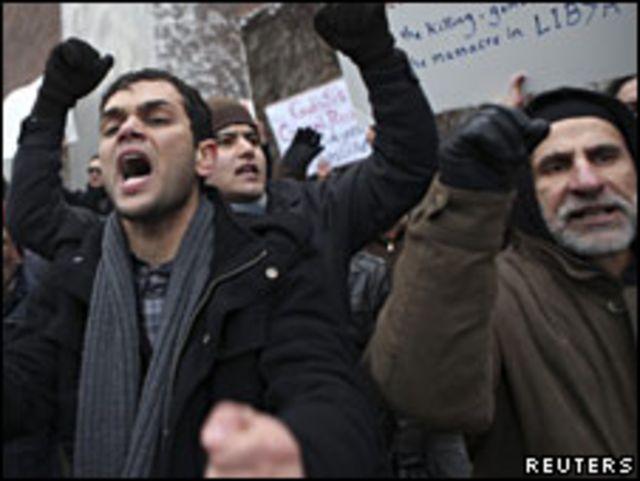 利比亞抗議民眾