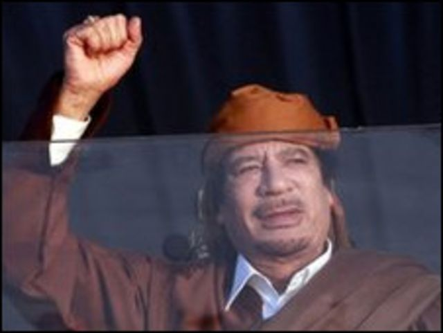 卡扎菲指責國際恐怖主義製造騷亂