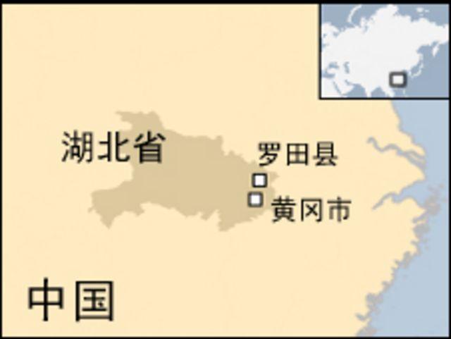 湖北省羅田縣地圖
