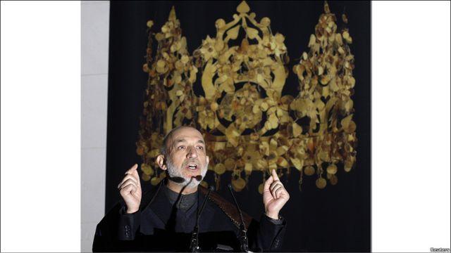 """سخنرانی حامد کرزی، رئیس جمهوری افغانستان، در افتتاحیه نمایشگاه """"افغانستان: چهارراه دنیای کهن"""" در موزه بریتانیا"""