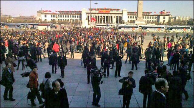 北京天安門前(03/03/2011)