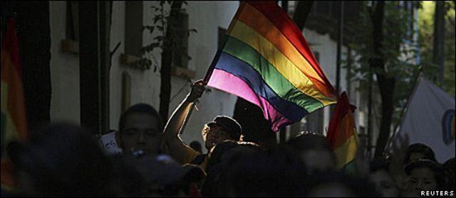 Manifestación gay en México