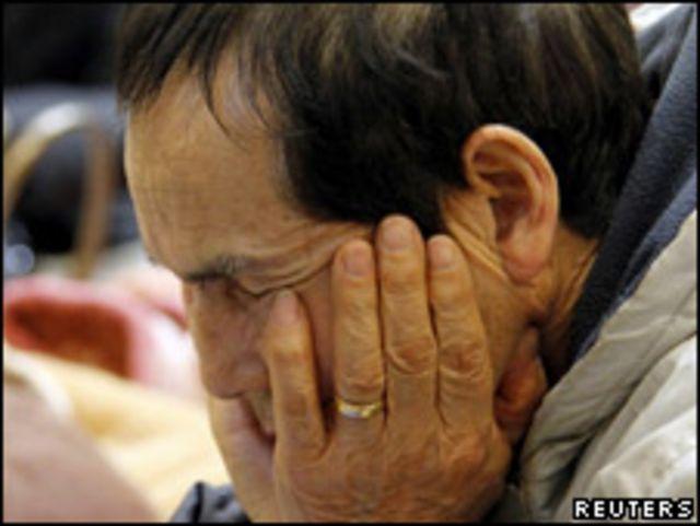 因福島核電站危機而被迫轉移的日本人(12/03/2011)
