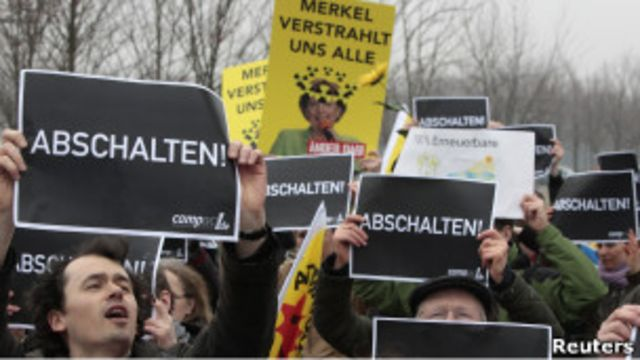 تظاهرات مخالفان نیروگاه های اتمی در آلمان