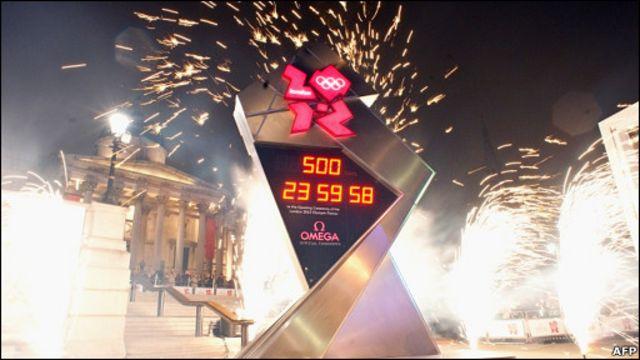 倫敦奧運會500日倒計時鐘