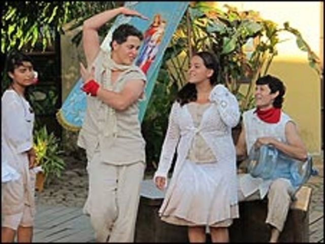 Obra de teatro en Suchitoto