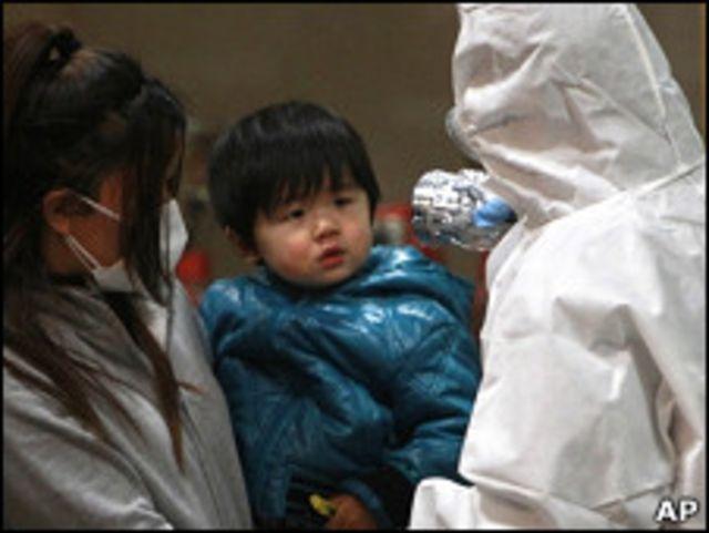 日本政府檢測民眾輻射程度