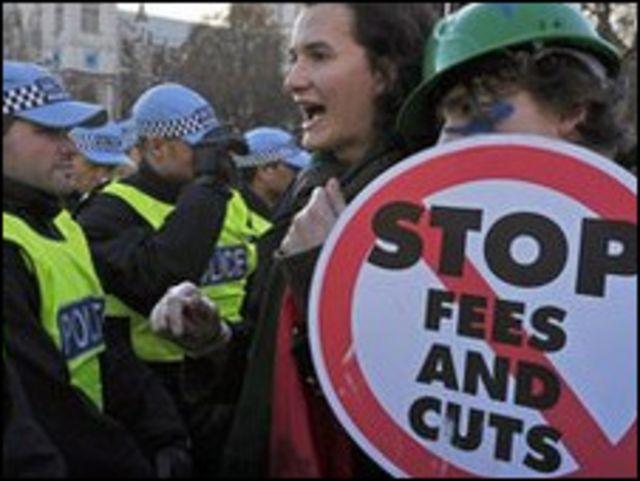 抗議學費上漲