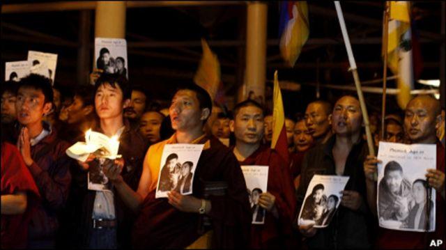 達蘭薩拉喇嘛悼念四川自焚喇嘛