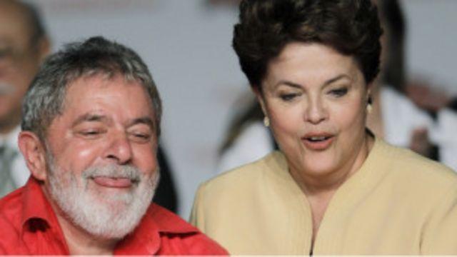 Chính sách kinh tế của Tổng thống Rousseff được kế thừa từ ông Luca da Silva (trái)