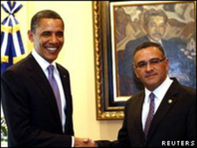 美國總統奧巴馬和薩爾瓦多總統富內斯