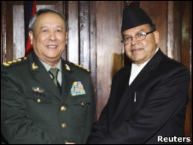 陳炳德與尼泊爾總理卡納爾