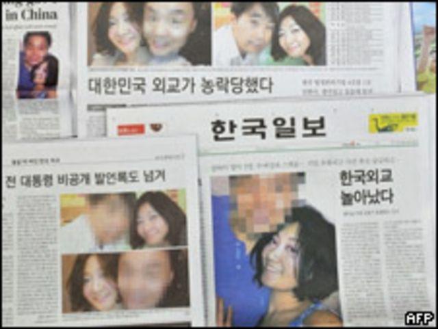 報道有關「上海門」的韓國報紙
