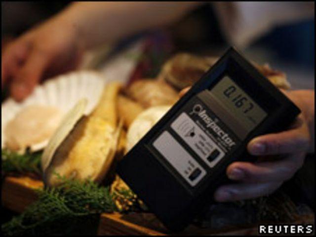 香港日本餐廳檢測食品的放射性