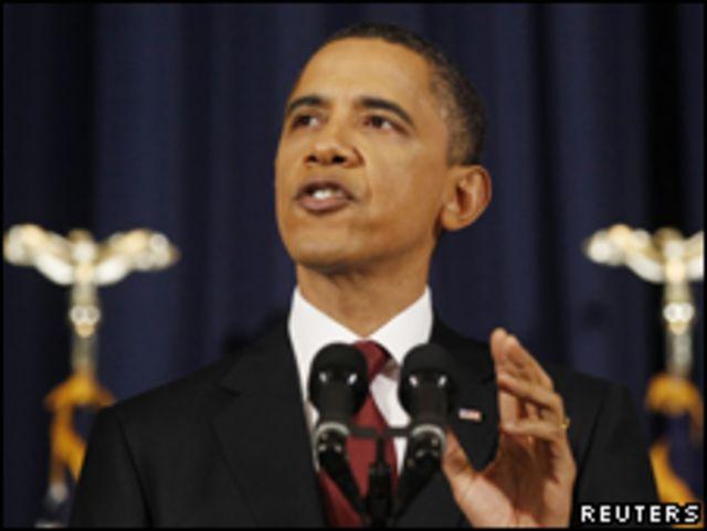 美國總統奧巴馬在華盛頓美國國防大學發表演講(29/03/2011)
