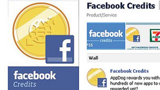 Facebook credits.