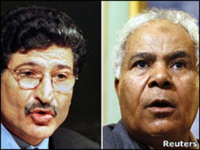 利比亞對外情報部長(左)和議長都去向不明