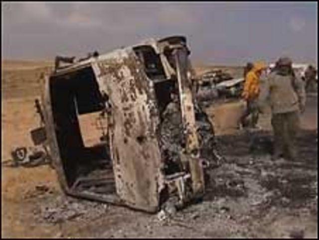 利比亞布雷加空襲現場(screen grab)