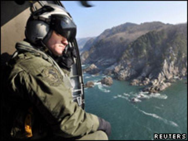 美軍同日軍合作尋找地震海嘯失蹤者