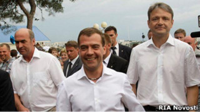 Дмитрий Медведев на прогулке в Геленджике
