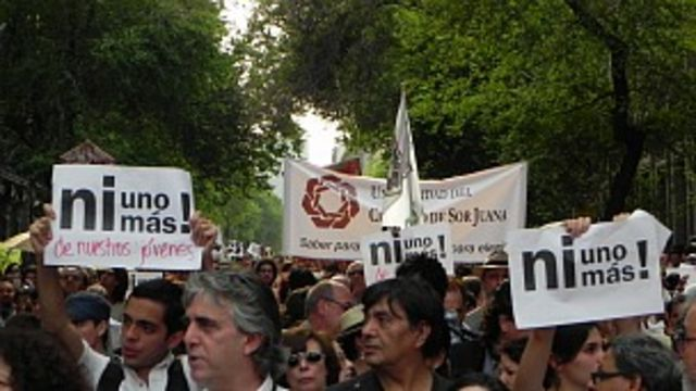 Marcha contra violencia en México