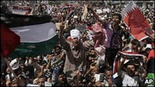 也門人示威抗議要求總統薩利赫下台