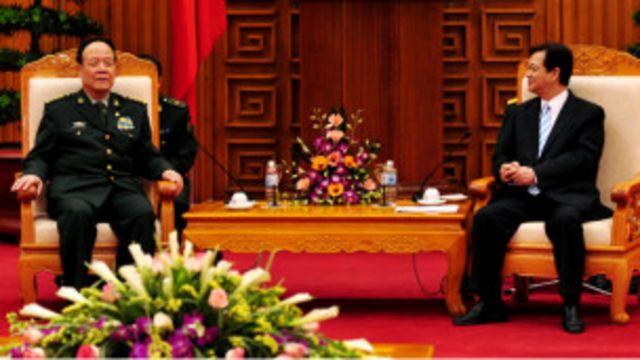 郭伯雄與越南總理阮晉勇會晤(13/04/2011 中國國防部圖片)
