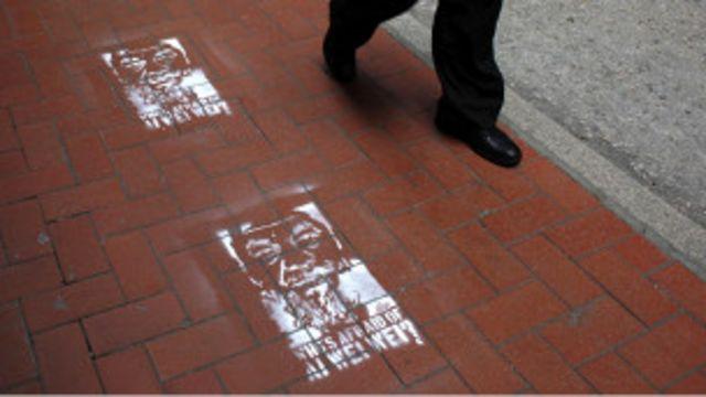香港街頭聲援艾未未的塗鴉