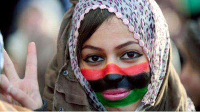 دختر لیبیایی