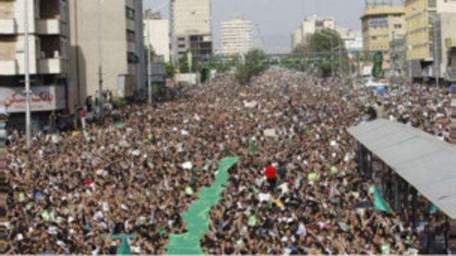 تظاهرات اعتراضی به نتیجه انتخابات