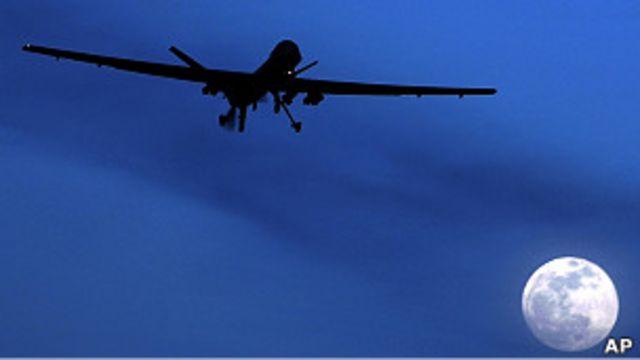 在阿富汗坎大哈執勤的美軍「掠奪者」無人機(資料圖片)