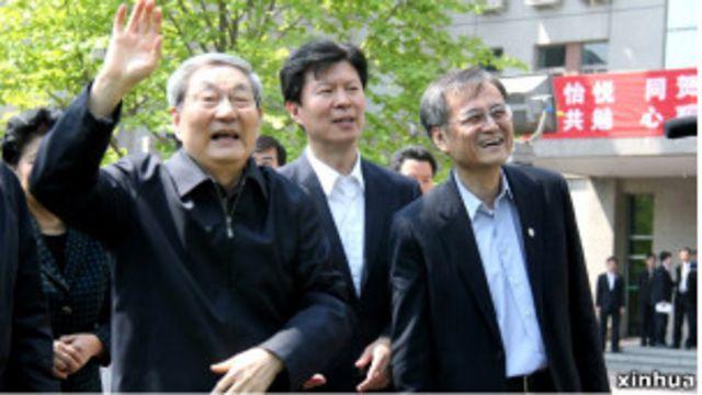 朱鎔基訪問清華大學